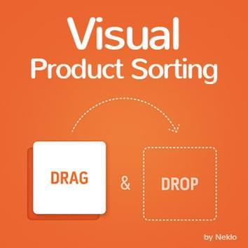 Visual Product Sorting by Drag and Drop